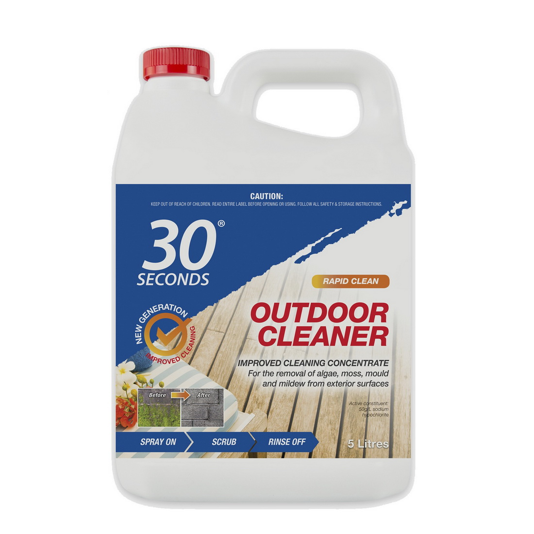 Ready To Use Outdoor Cleaner with Gun 5L