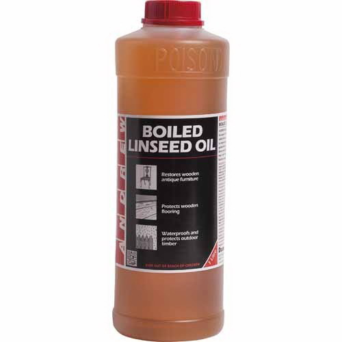 1L Andrew Boiled Linseed Oil Yellow/Amber