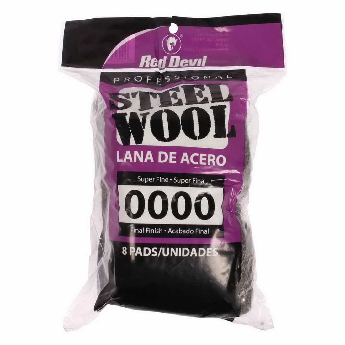 Professional No.0000 Steelwool Pads 8 Pack
