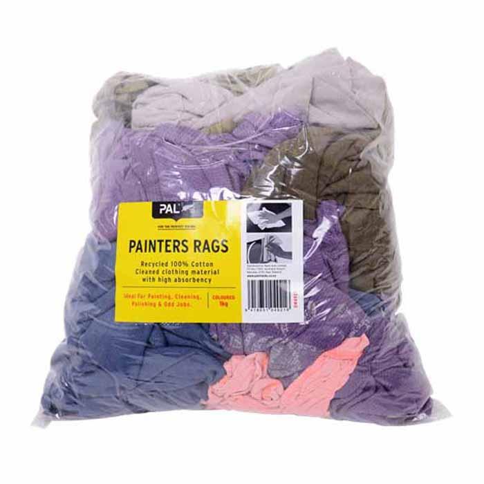 1kg Painters Rags Cotton Coloured