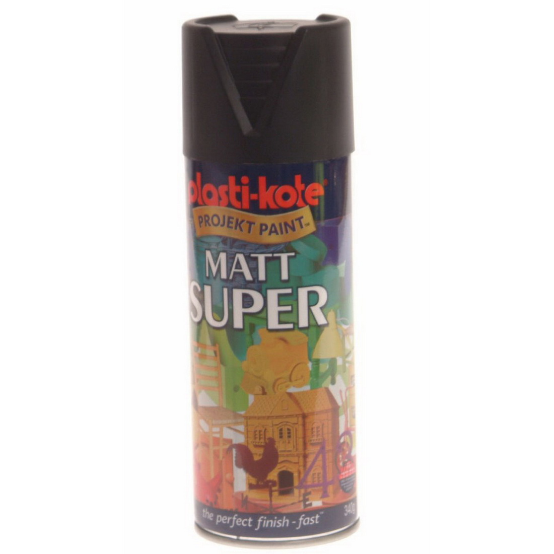 PlastiKote Super Matt Spray Paint Black GA-PK3101