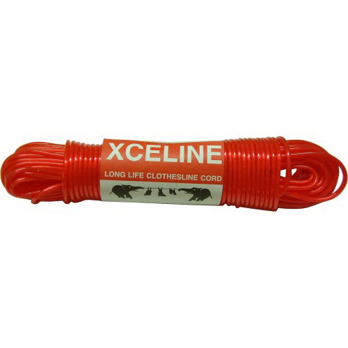 Clothesline Cord Red 30m Poly Coated