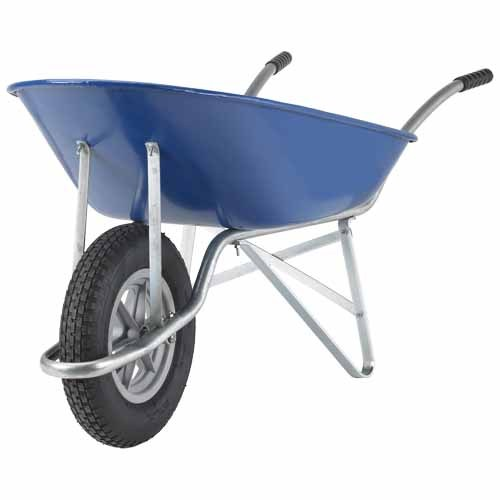 Handiman 51L Steel Blue Wheelbarrow