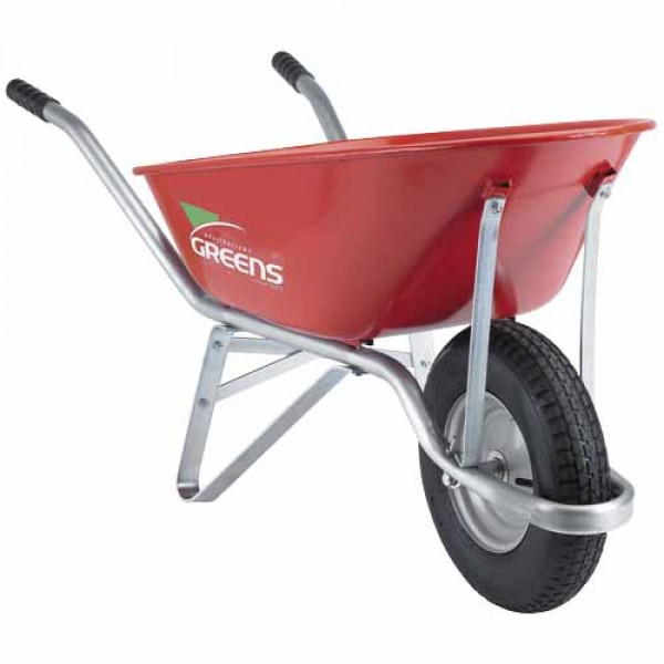 Contractor Bolt Free Red Wheelbarrow