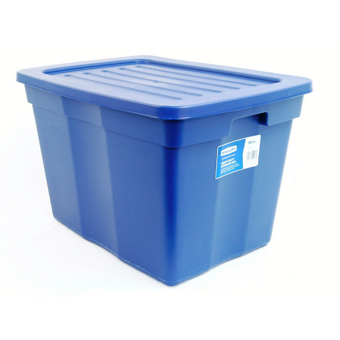 Malloy Heave Duty Storage Box With Lid 79L Blue S0003