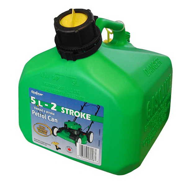 Two-Stroke Manually Vented Fuel Can 5L Polyethylene SC08958
