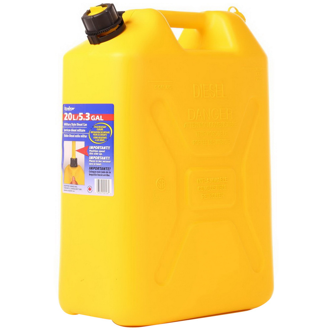 Diesel Fuel Can 20L Polythene SCD520