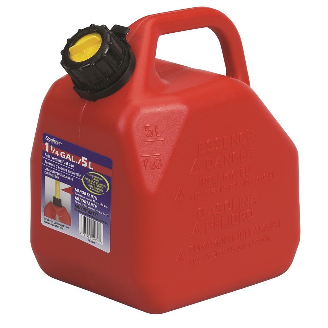 Self Venting Fuel Can 5L Polyethylene SC07081