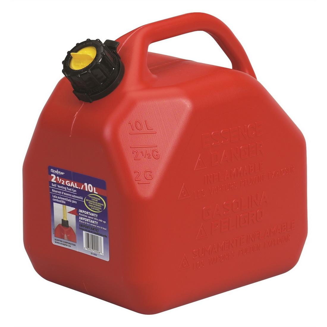 Self Venting Fuel Can 10L Polyethylene SC07079