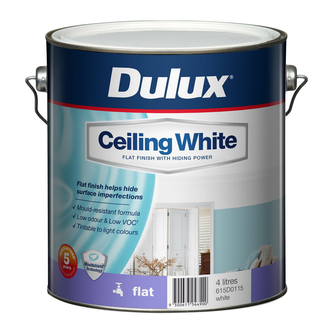4L Ceiling Paint Flat Sheen White