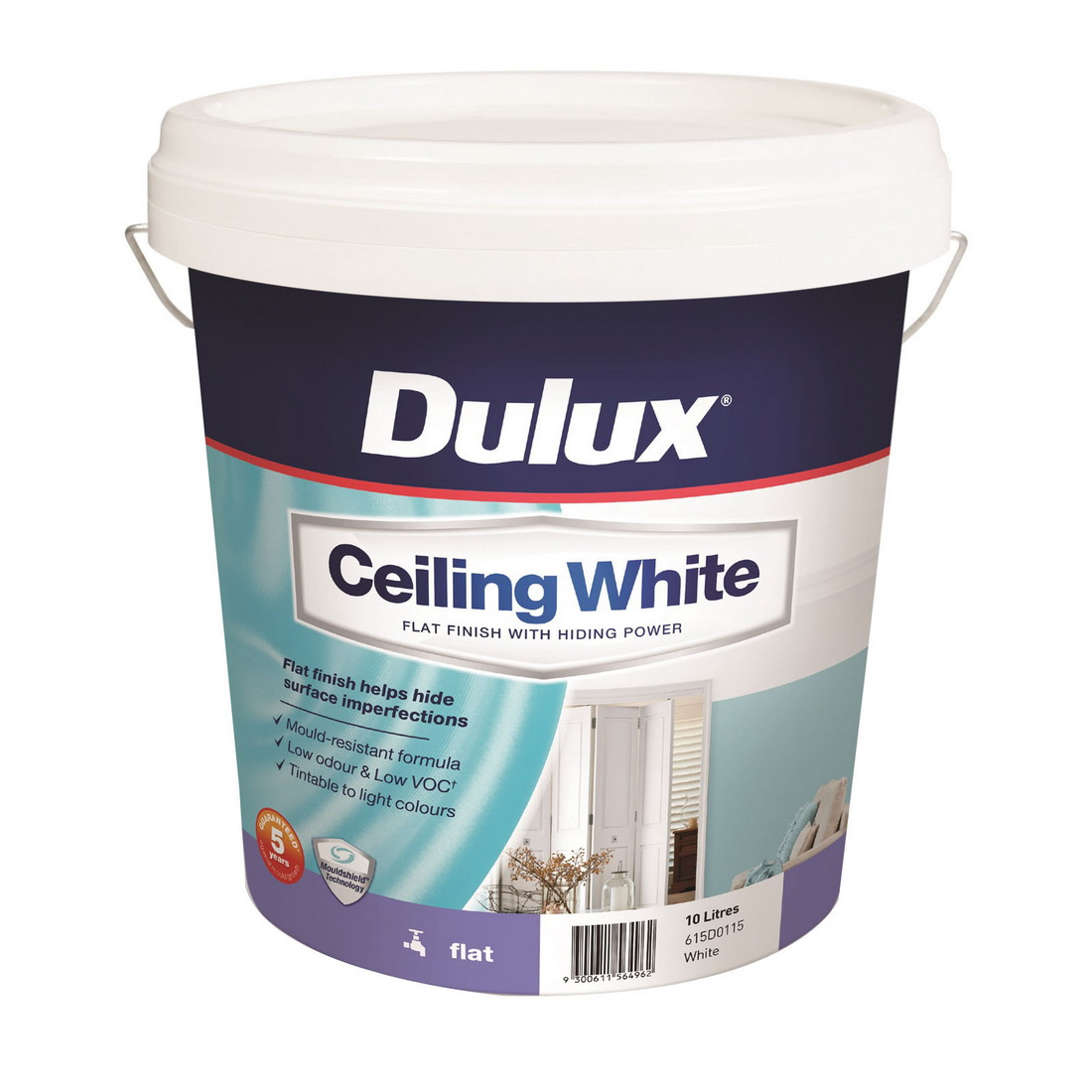 10L Ceiling Paint Flat Sheen White