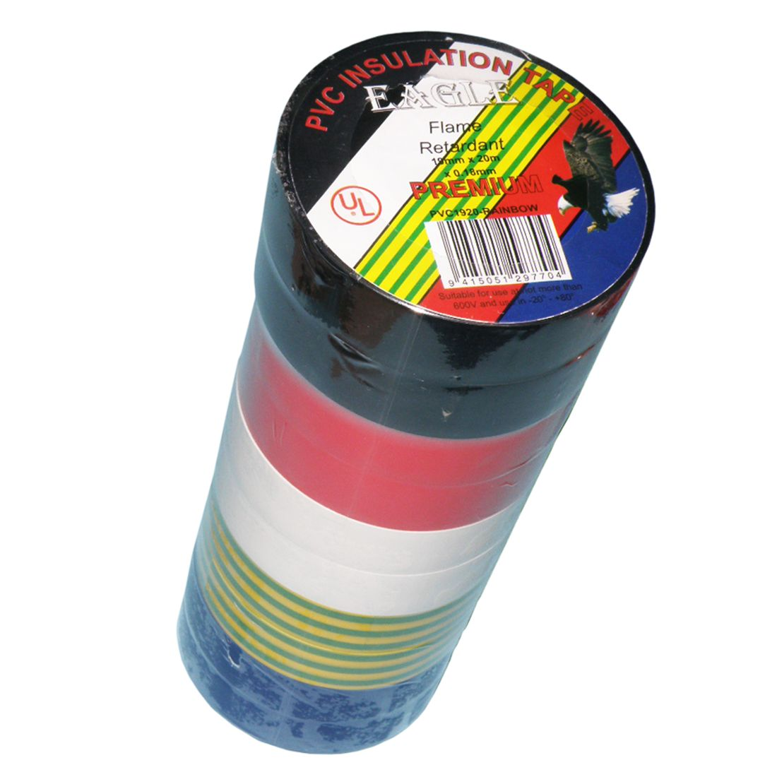 20m x 19 x 018mm Insulation Tape 10 Pack