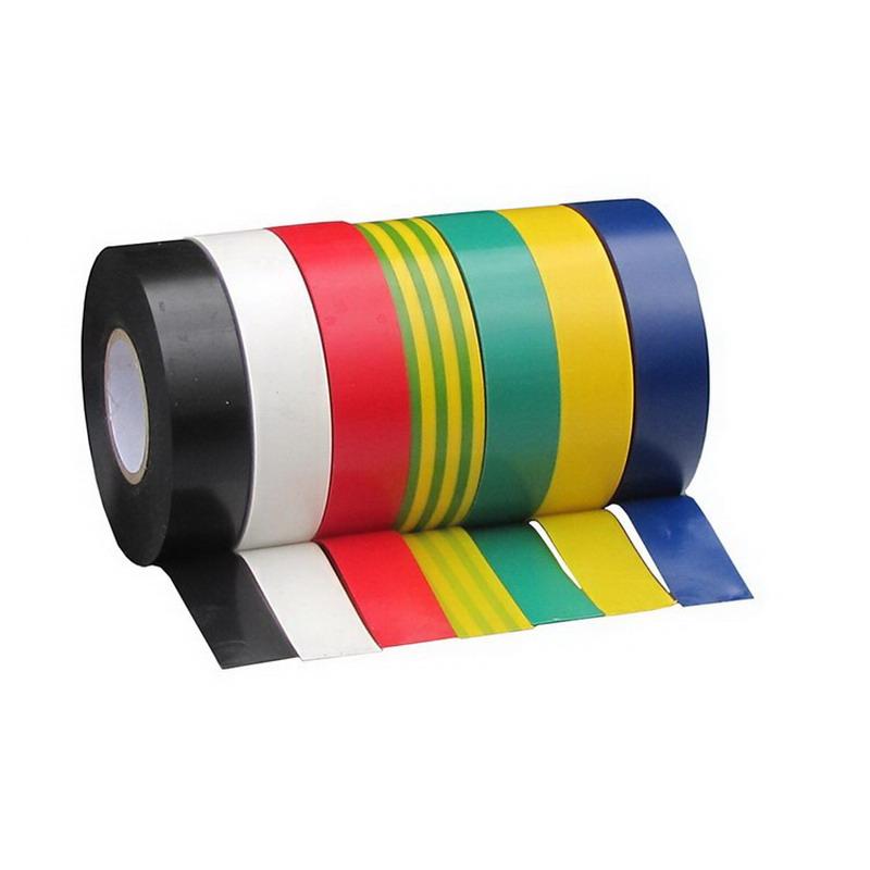 20m x 19 x 0.18mm Insulation Tape Rainbow 10 pack