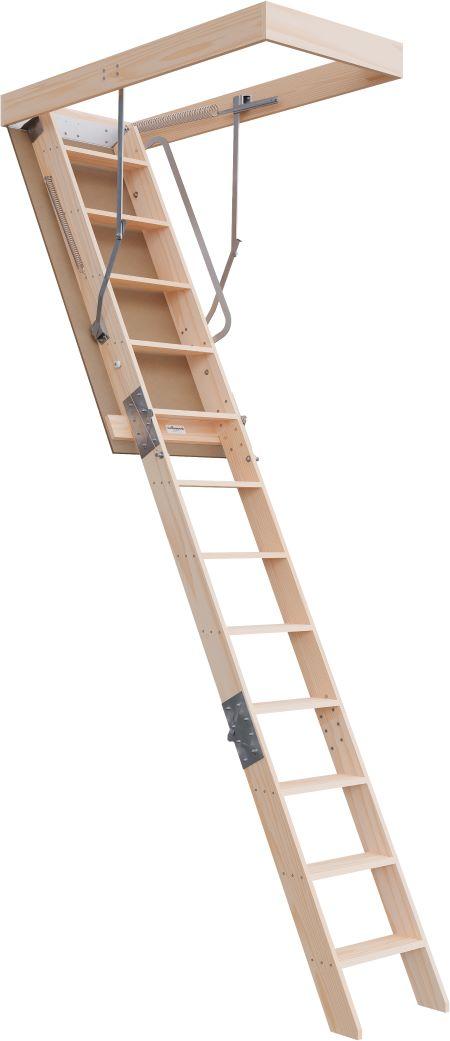 Deluxe Range 2750 - 3100mm Attic Ladder Timber