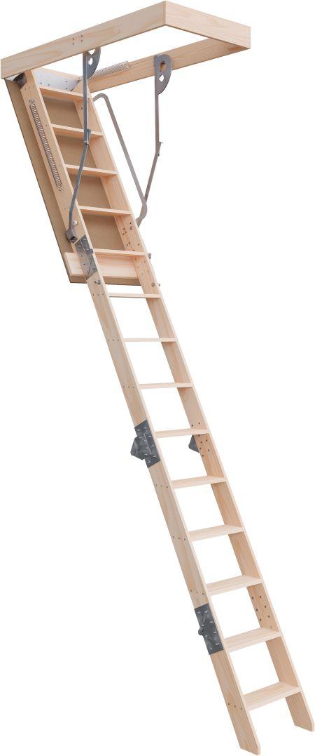 Deluxe Range 3100 - 3660mm Attic Ladder Timber