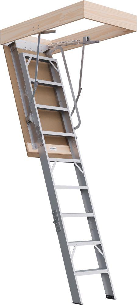 Commercial Range 2300 - 2500mm Attic Ladder Aluminium