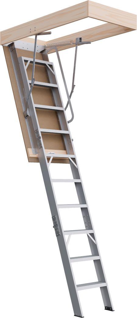 Commercial Range 2550 - 2800mm Attic Ladder Aluminium