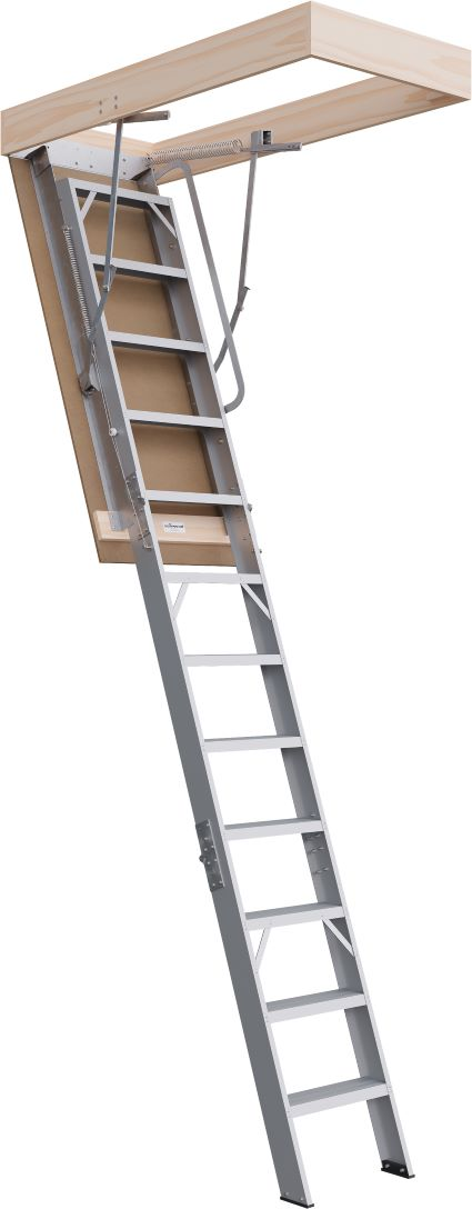 Commercial Range 3000 - 3160mm Attic Ladder Aluminium