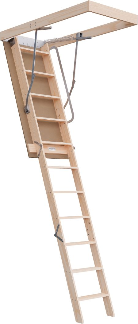 Regular Range 2250-2800mm Attic Ladder Timber