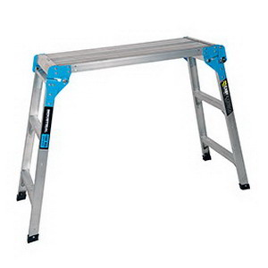 150kg 3-Step Folding Work Platform 850 x 300 x 900mm Aluminium