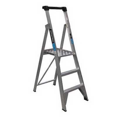 Trade Series 0.9m Platform Ladder 3 Step 180kg