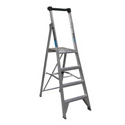 Trade Series 1.2m Platform Ladder 4 Step 180kg
