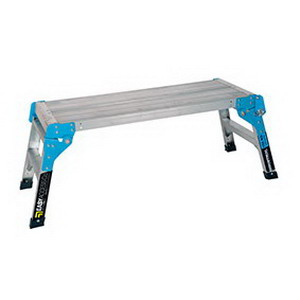 Trade Series 150kg 2-Step Folding Work Platform 850 x 300 x 500mm Aluminium