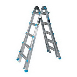 150kg Multi Purpose 5-Step All-In-One Telescopic Ladder 1.5-5.7m