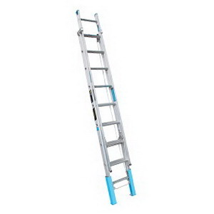 150kg 11-Step Extension Ladder with Levelling Feet 3.8-5.93m