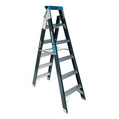 Trade Series Dual Purpose Fibreglass Ladder 6 Step 1.8-3.2m 150kg