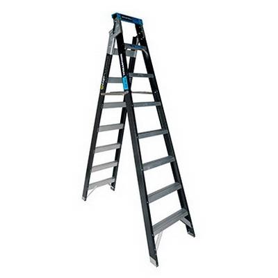 Trade Series Dual Purpose Fibreglass Ladder 8 Step 2.4-4.5m 150kg