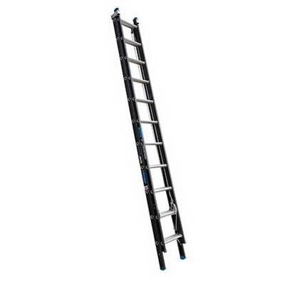 Trade Series 150kg Heavy Duty 11-Step Extension Ladder 3.5-6m Fibreglass