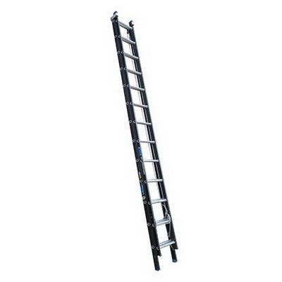 150kg Heavy Duty 13-Step Extension Ladder 4.1-7.2m Fibreglass