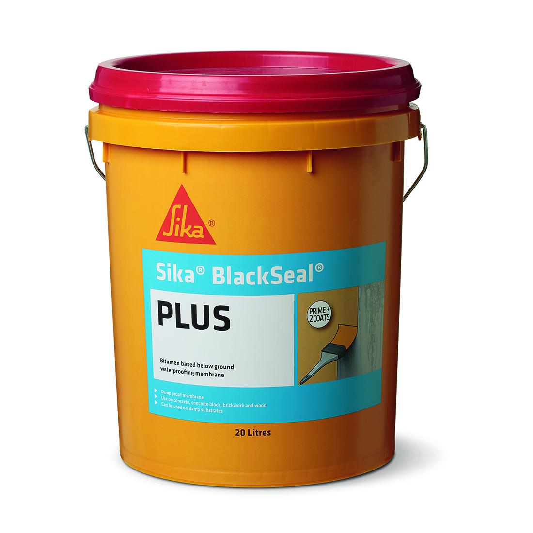Blackseal Plus Liquid Bitumen Waterproofing Membrane 20L Black