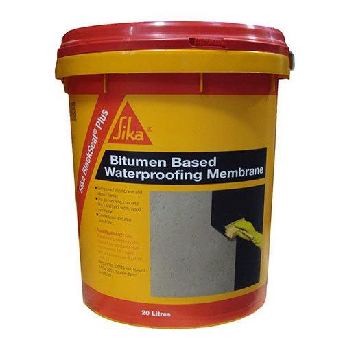 Sika BlackSeal Plus Liquid Applied Bitumen Waterproofing Membrane 20L Black 450387