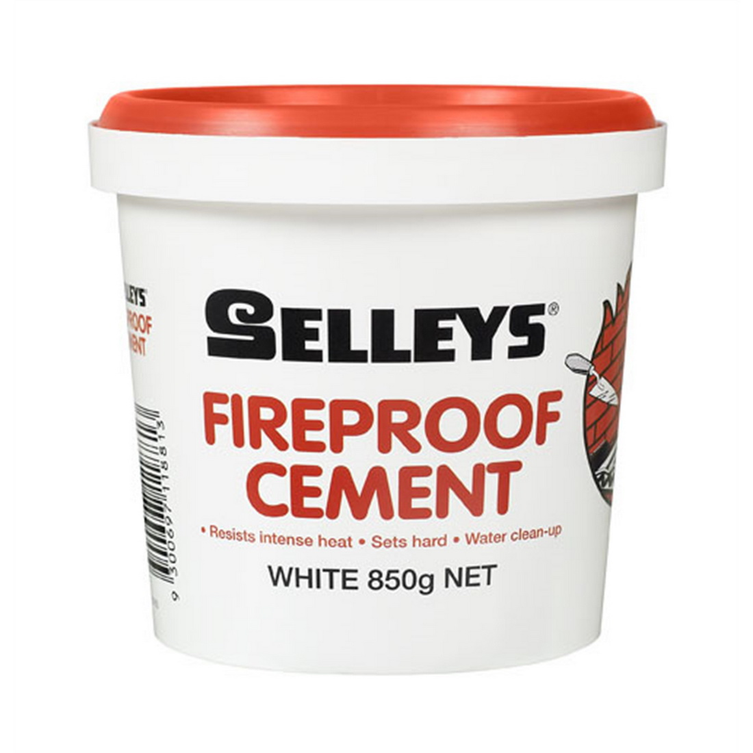 850g Ready-to-Use Fireproof Cement White