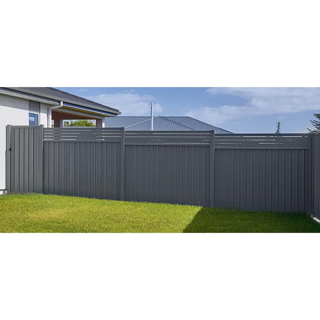 Frontier 1.2 Fence Panel 1200 x 2300mm Slate Grey