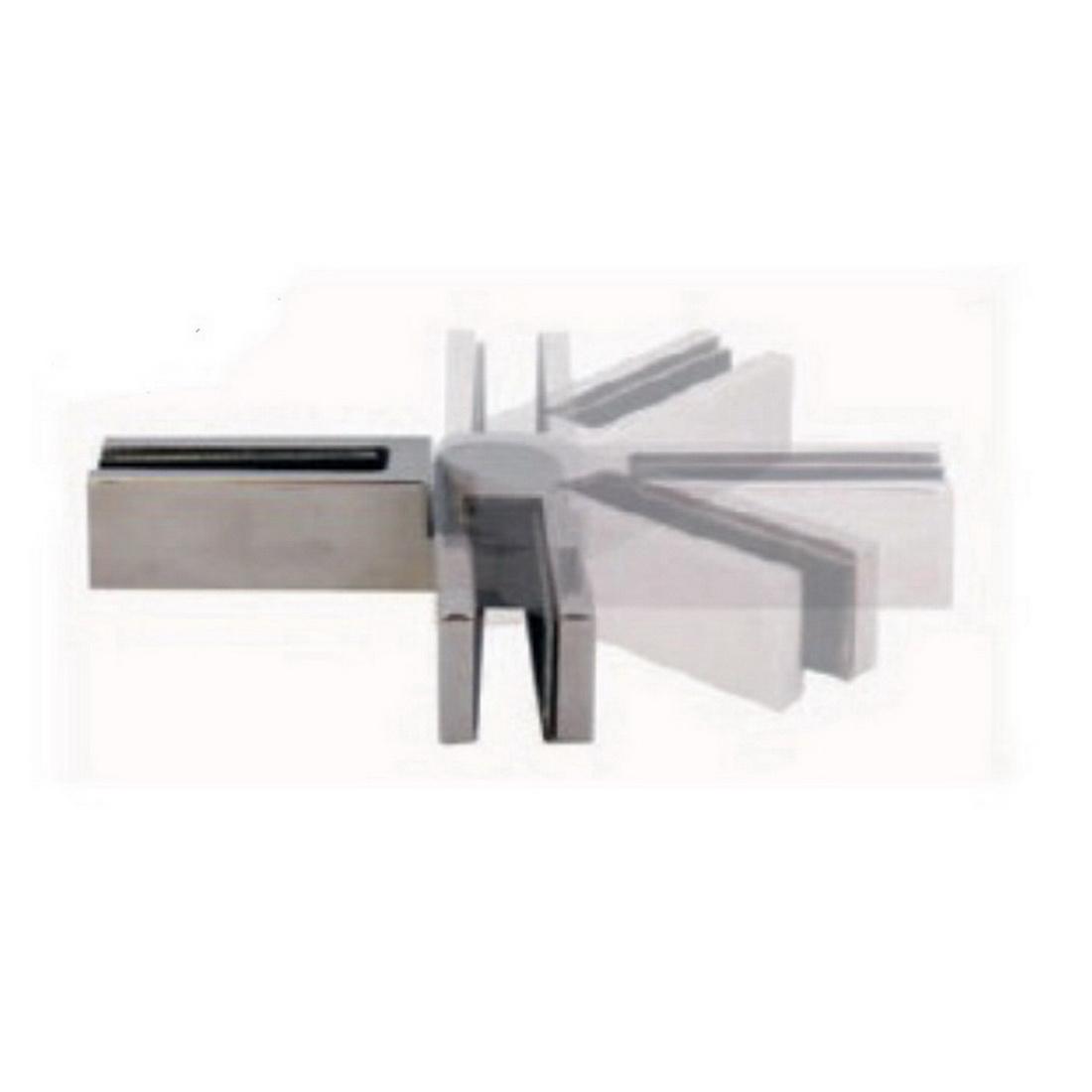 Glass-To-Glass Swivel Rigi Clamp 316 Stainless Steel