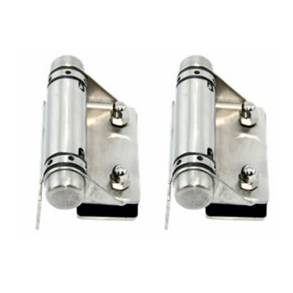 Glass-To-Wall/Square Post Hinge Set 316 Stainless Steel