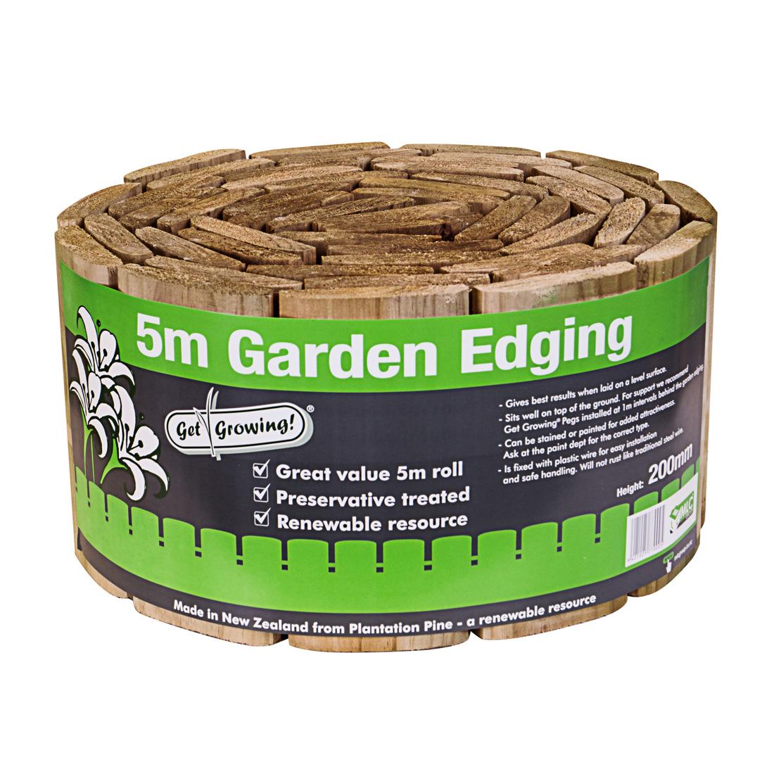 Wired Garden Edging H3.2 Treated 200mm x 5m