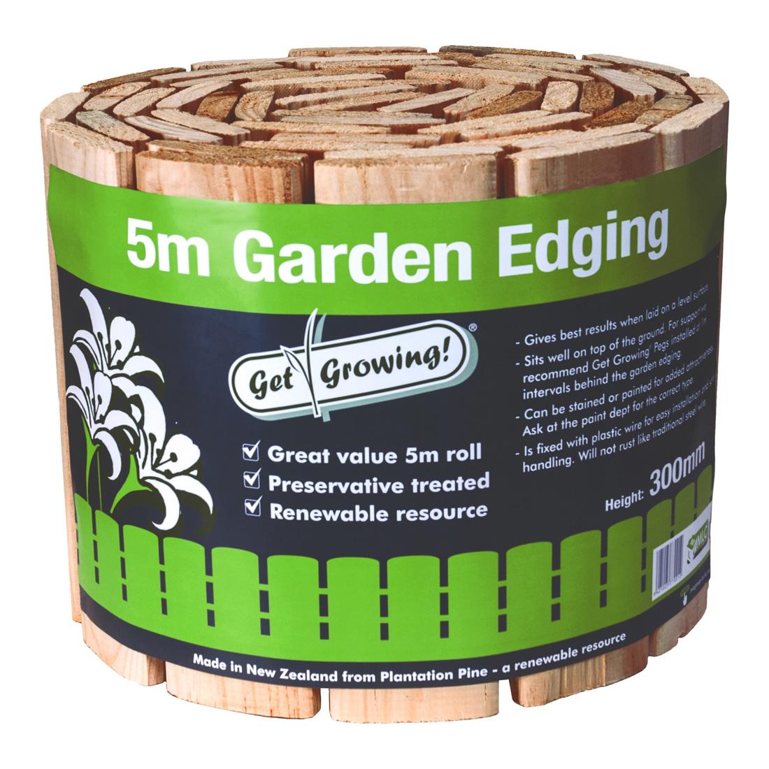 Wired Garden Edging H3.2 Treated 300mm x 5m