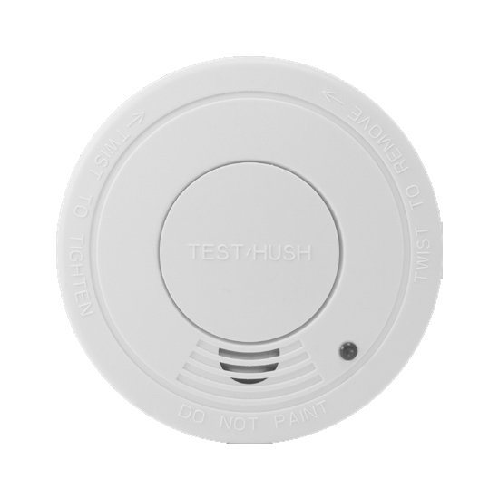 Photoelectric Smoke Alarm with Hush & Replacable 9v Battery 2 Pack