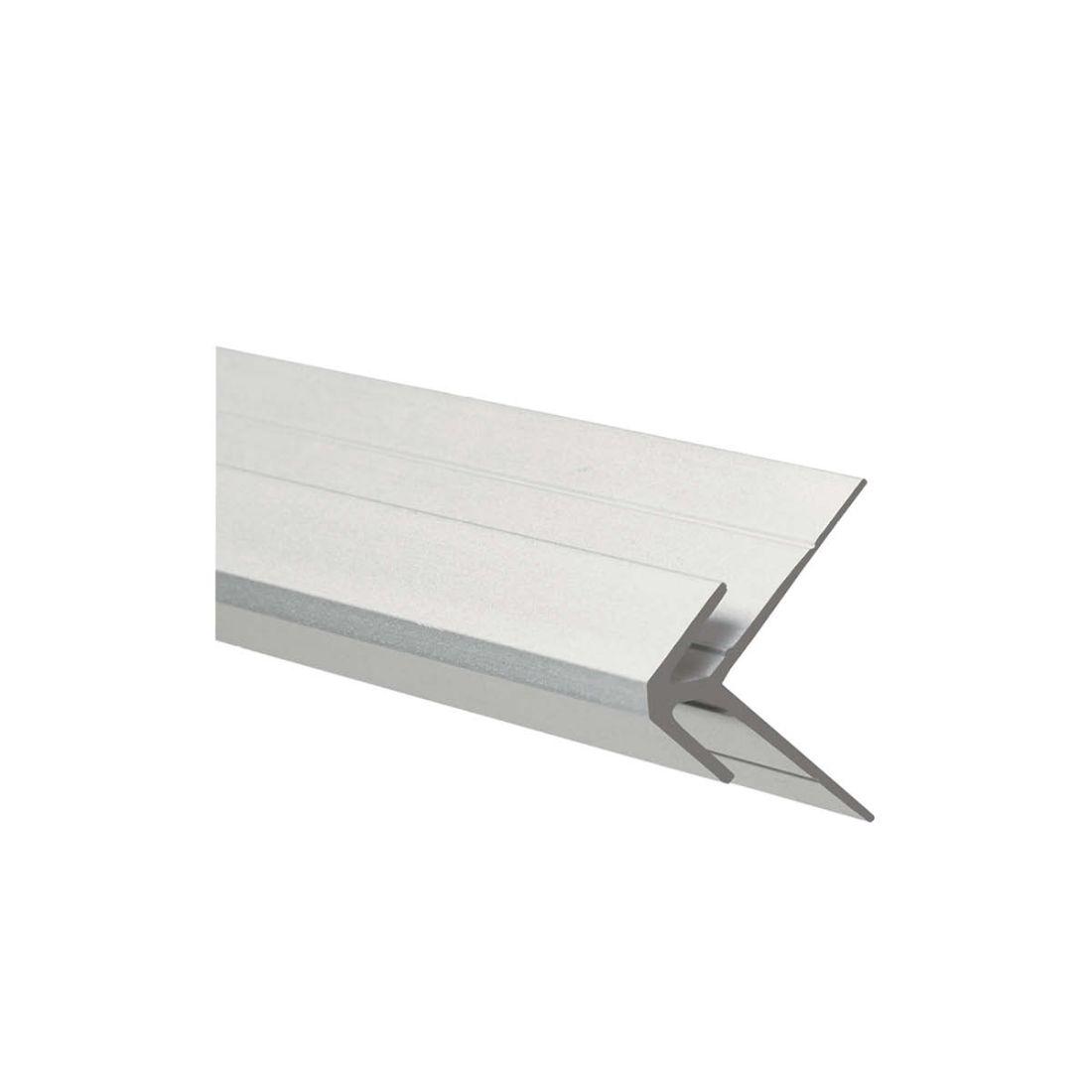 Aluminium External Corner Jointer Polar White 2700 x 4.5mm