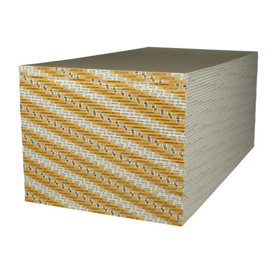Standard Wallboard 3600 x 1200 x 10mm Yellow Face Paper Gypsum 11540
