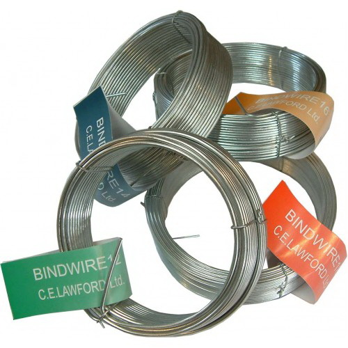 Binding Wire 12G 1/2kg Coil Galvanised Green