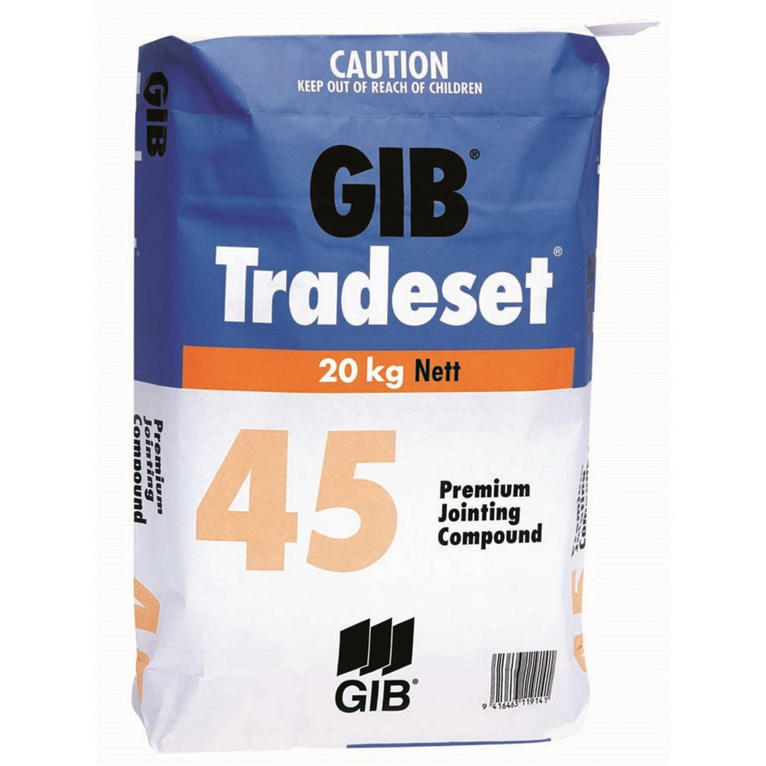 Tradeset 45 Setting Jointing Compound 20 kg Bag 11914