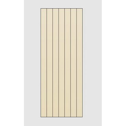 Avon EPS Solid Core V-Groove Panel 1980 x 760 x 4 mm 6 Grooves MDF Primed Steel 2 Door SBSA7604.0