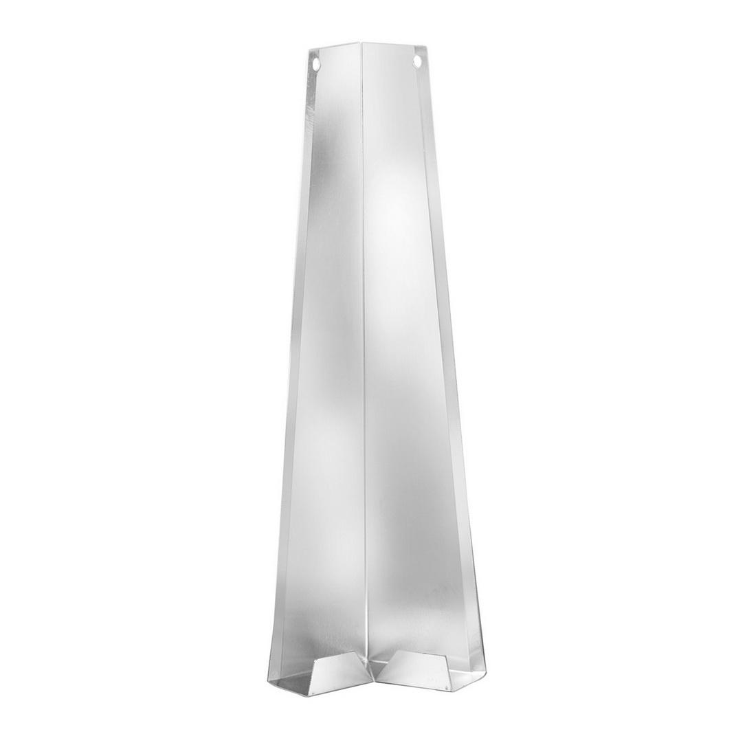 Linea Weatherboard 135mm Aluminium External Corner Soaker 90 Degree