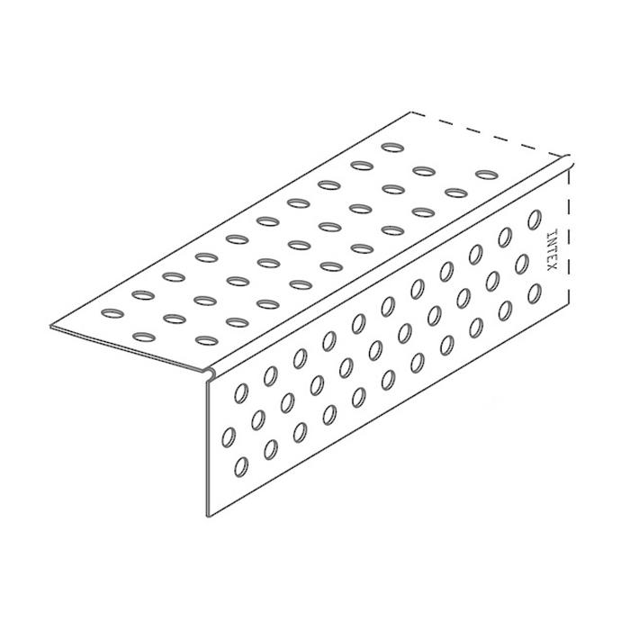PlasterX 32 x 2400mm Perforated Low Profile 90deg External PVC Trim