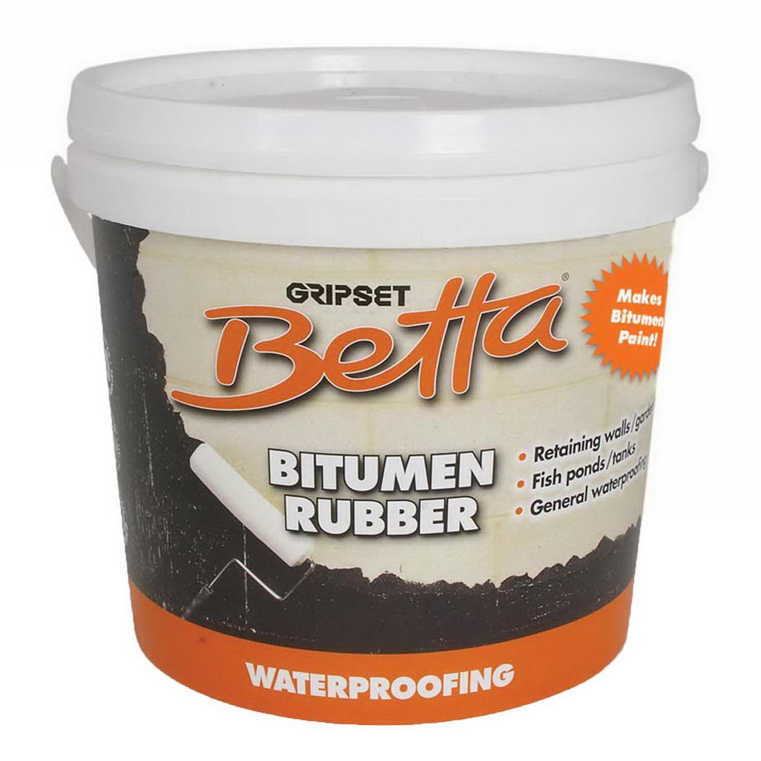 Gripset Betta Waterproofing Bitumen Rubber 4L Black GA-BETMB003